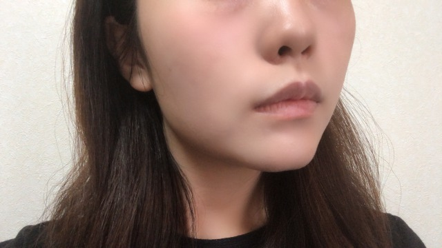 ミチウルを顔へぬりました。